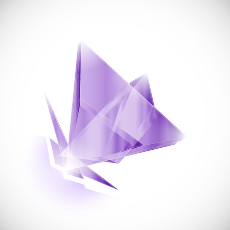 shard of glass: amethyst shard crystal icon vector template
