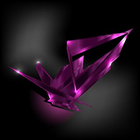 zircon: amethyst dark shard crystal icon vector template