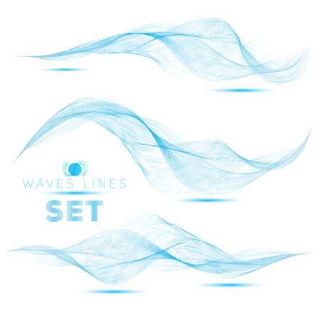 blend: great set beautiful blend blue waves abstract background vertical for design template