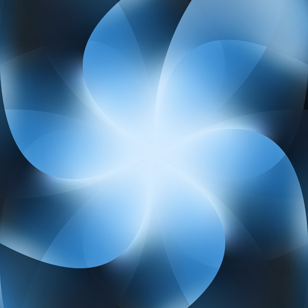 Blue Background Abstract Business Flower Vector