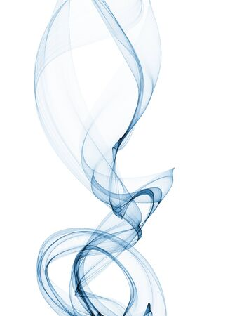 incomparable: blue smoke wave curves isolated on white abstract