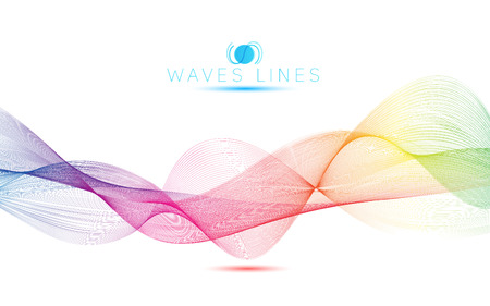 incomparable: rainbow waves colorful gradient light blend line abstract