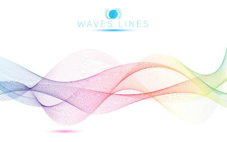 arco iris: grandes olas arco iris colorido línea de mezcla de luz gradiente vector resumen brillante Vectores