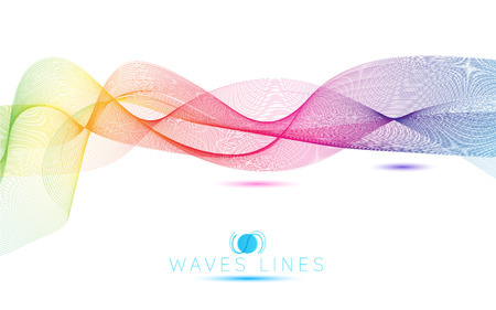 incomparable: great rainbow waves colorful gradient light blend line bright abstract vector