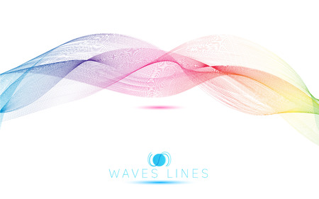 incomparable: rainbow waves colorful gradient light blend line bright abstract vector