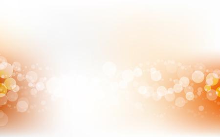 Orange Soft Pastel Bokeh Pale White Abstract Background Vector Illustration