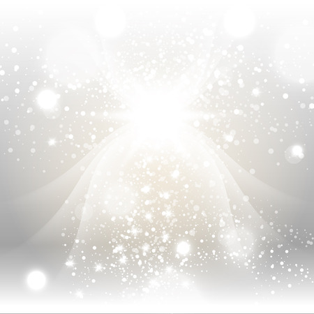 fluorescence: Silver Gold Sparks Winter Soft Pastel Bokeh Pale Abstract Background Vector Illustration