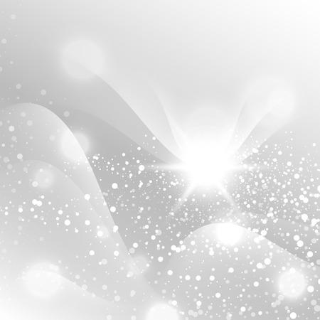 Silver Sparks Sky Soft Pastel Bokeh Pale Abstract Background Vector Illustration Illustration