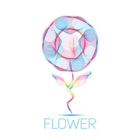 incomparable: flower waves colorful gradient light blend line icon