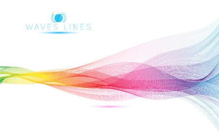 arco iris: grandes olas arco iris colorido gradiente mezcla ligera l�nea vectorial abstracto Vectores