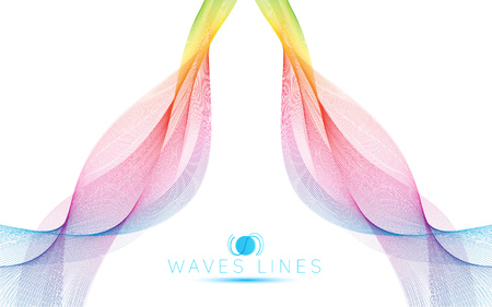 incomparable: great rainbow waves colorful gradient light blend line vector abstract