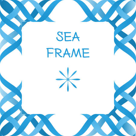 branch to grow up: abstract 3d sea waves frame isolated mock up volume modern vector