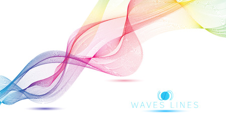 great rainbow waves colorful gradient light blend line vector abstract Reklamní fotografie - 42391330