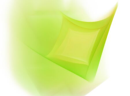 intro: green square eco wave leaf creative  lines abstract background  illustration
