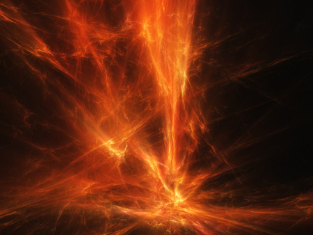storm clouds: solar flare prominence fiery lava high quality texture Stock Photo