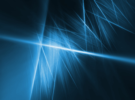 incomparable: blue glow sticks fiber technology abstract background Stock Photo
