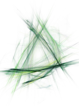 incomparable: green sketch the outline of a bright line on white background abstract vertical  background