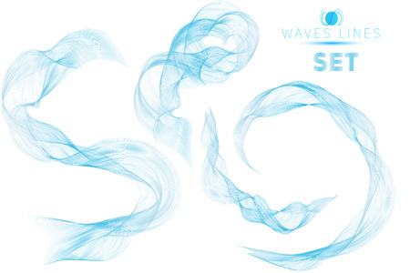 blend: great set blue blend massive waves water abstract background for design isolated template
