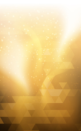 Gold Yellow vertical Christmas background Northern lights  double exposure for design