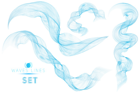 blend: great set blue blend massive waves water abstract background for design template isolated