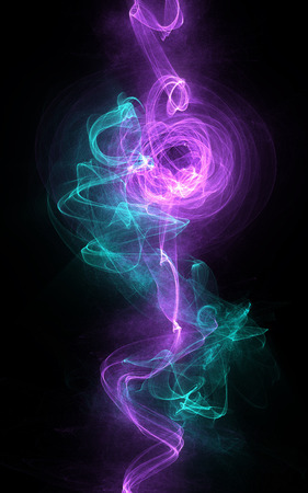 black smoke: purple green background waves rhythm light on black vertical background