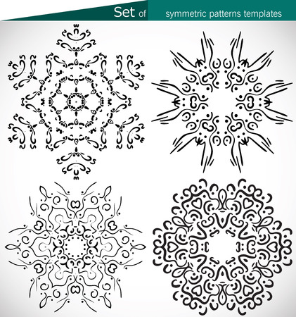 eastern religion: Set of high-quality symmetric patterns templates for design patterns and textures and print vector cmyk Illustration