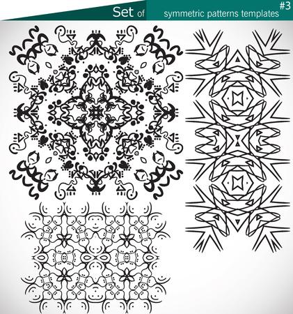figura: Jogo de alta qualidade padrões simétricos modelos para os padrões de design e texturas e impressão vetor cmyk Ilustração