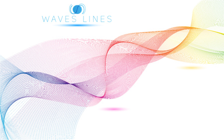 incomparable: colorful light waves line bright abstract pattern illustration vector curve Illustration