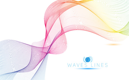 colorful light waves line bright abstract pattern illustration vector curve Illustration