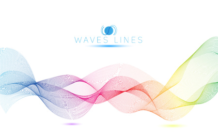 incomparable: colorful light waves line bright abstract pattern rainbow illustration