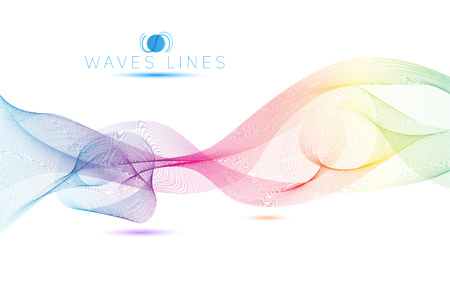 pattern vector: rainbow colorful light waves line bright abstract vector pattern Illustration