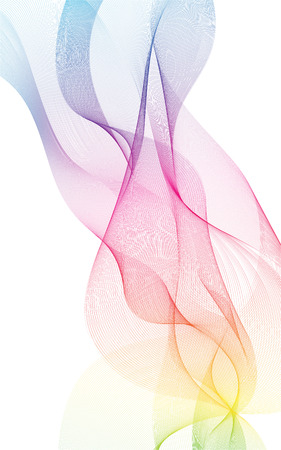 colorful light waves line bright abstract pattern illustration curve vertical