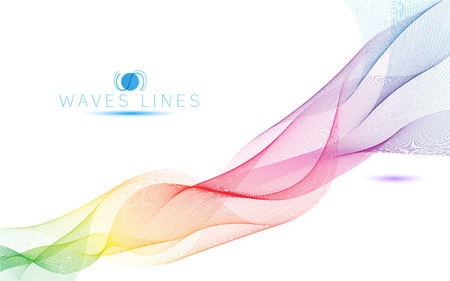 incomparable: colorful light waves line bright abstract pattern illustration curve
