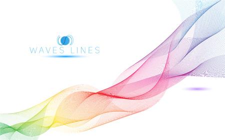 curvas: las ondas de luz de colores brillante línea curva patrón abstracto ilustración