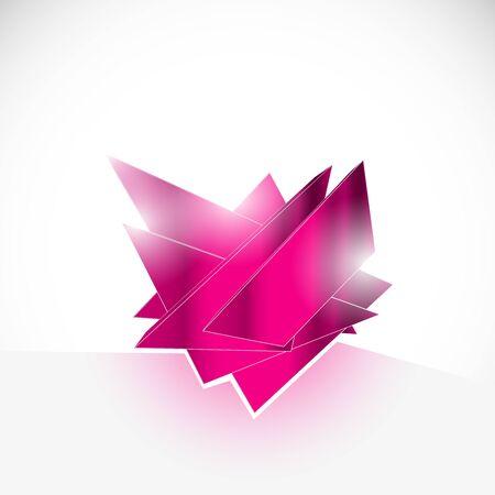 zircon: pink gem amethyst shard crystal icon   vector template