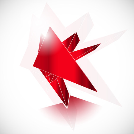 ruby: Red gem ruby crystal icon geometric art vector template Illustration