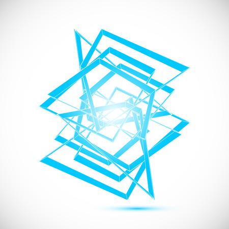 gem: Ice blue gem sapphire crystal icon geometric art vector template