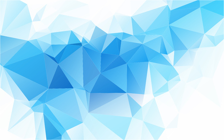 Linght Blue Sapphire Polygonal Mosaic Background Creative Design Illustration