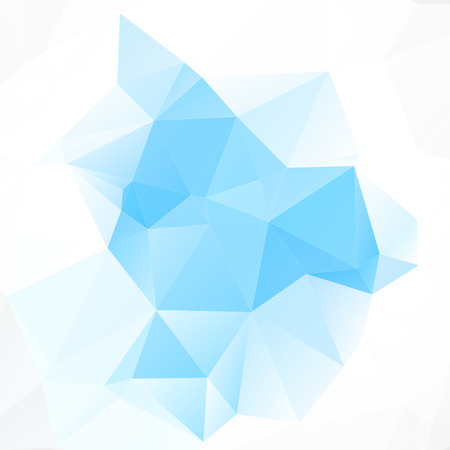 Blue Light Sky Polygonal Mosaic Background Creative Design Illustration