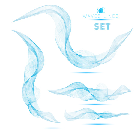 white backgrounds: blue massive blend waves abstract background for design