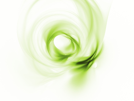 green swirl on a white background clean beautiful eco picture