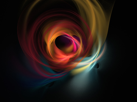 multicolored glowing round shape background Stock Photo
