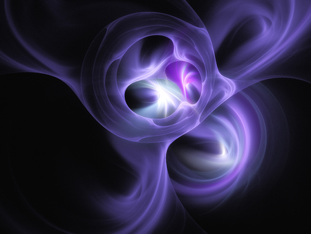 ultraviolet light circles wave form abstraction on a black background Stock Photo