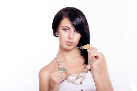 Young woman with a necklace photo