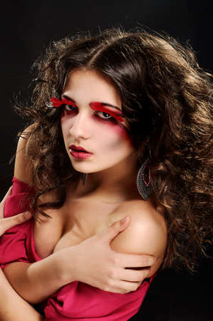young girl with fantasy makeup photo