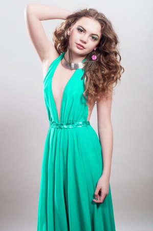 Beautiful young girl in beautiful dress Stock Photo - 19357191
