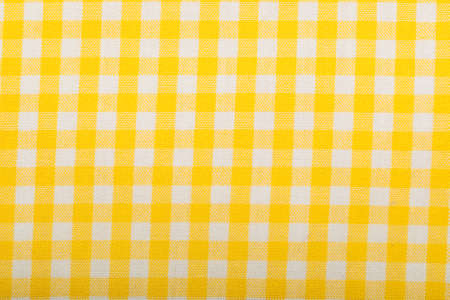 cotton fabric: Cotton fabric texture yellow plaid Stock Photo