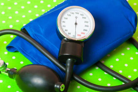 The instrument for measuring pressure and stethoscope photo