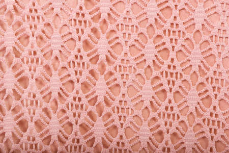 revivalism: cotton fabric texture with pink lace