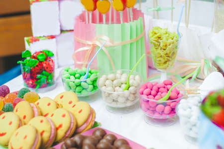 fruit candy: Candy bar for a childrens holiday
